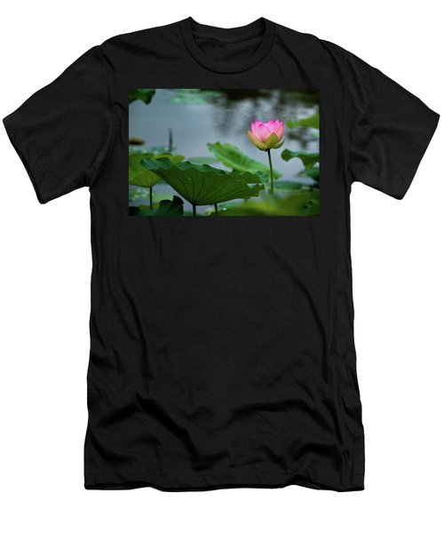 Glowing Lotus Lily Men's T-Shirt (Athletic Fit)