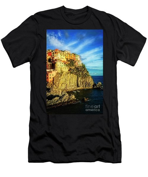 Men's T-Shirt (Athletic Fit) featuring the photograph Glowing Manarola by Scott Kemper