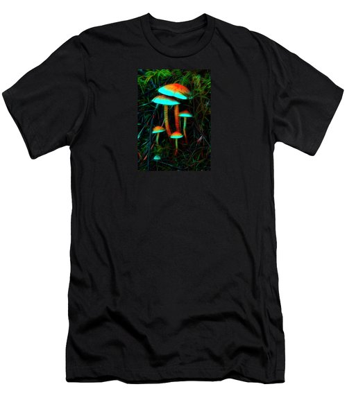 Glowing Mushrooms Men's T-Shirt (Athletic Fit)