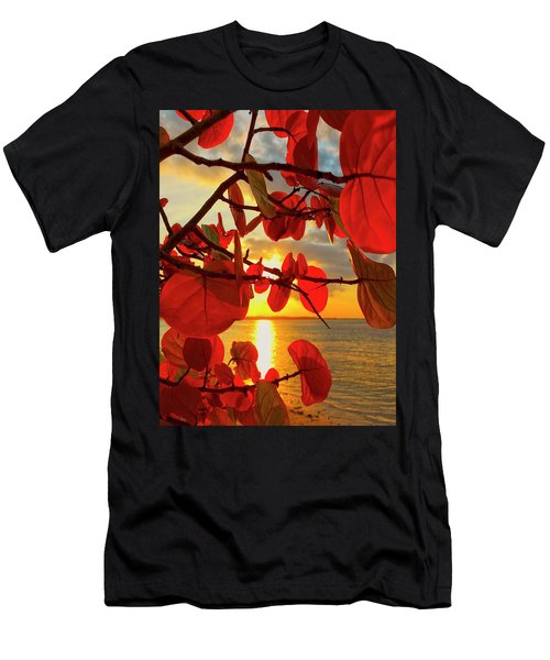 Glowing Red Men's T-Shirt (Athletic Fit)