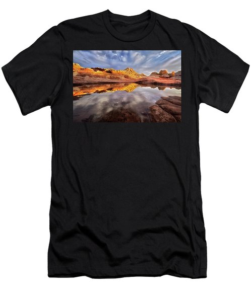 Glowing Rock Formations Men's T-Shirt (Athletic Fit)