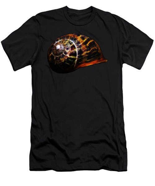 Men's T-Shirt (Slim Fit) featuring the photograph Glowing Shell by Shane Bechler