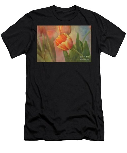 Glowing Tulip Men's T-Shirt (Athletic Fit)