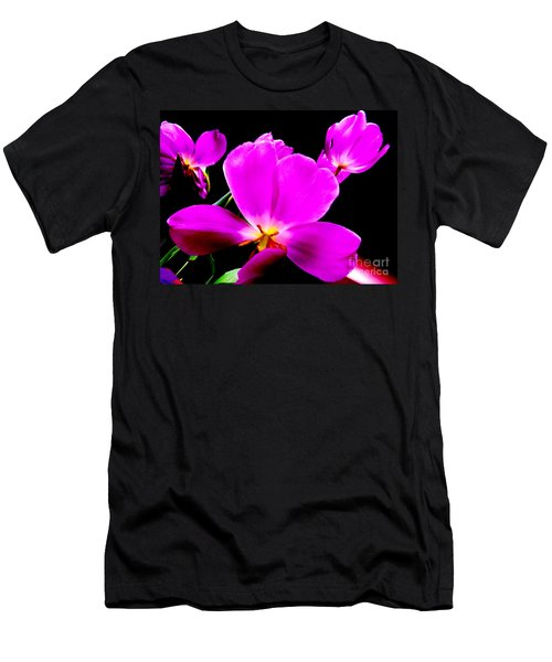 Glowing Tulips Men's T-Shirt (Athletic Fit)