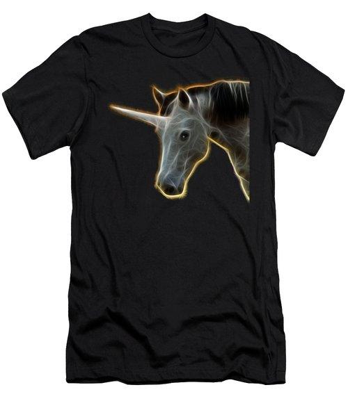 Glowing Unicorn Men's T-Shirt (Athletic Fit)