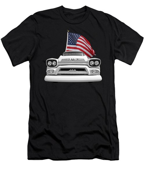 Gmc Pickup With Us Flag Men's T-Shirt (Athletic Fit)