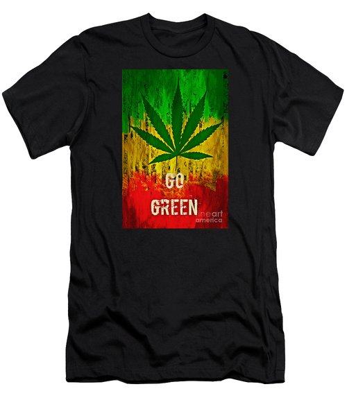 Go Green Men's T-Shirt (Athletic Fit)