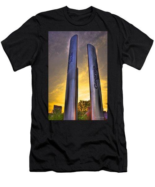 Go Tech Georgia Tech Sunset Art Men's T-Shirt (Slim Fit) by Reid Callaway
