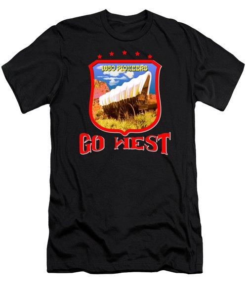 Go West Pioneer - Tshirt Design Men's T-Shirt (Athletic Fit)
