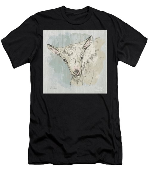 Goat Portrait-farm Animals Men's T-Shirt (Athletic Fit)