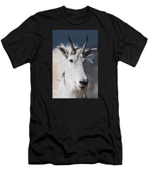 Goat Portrait Men's T-Shirt (Athletic Fit)