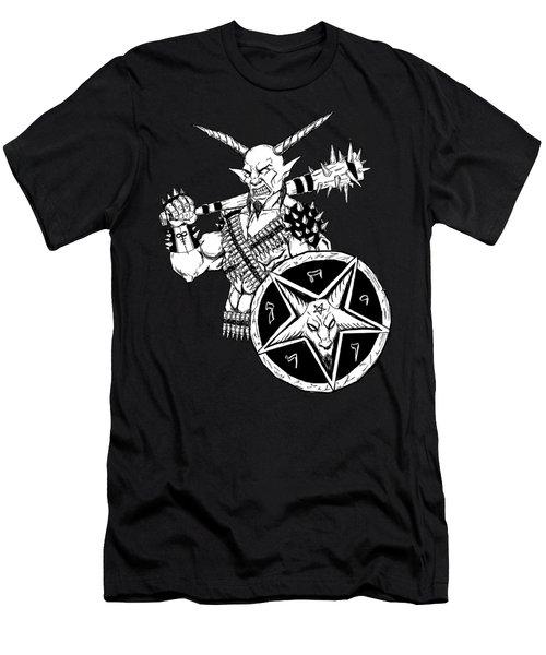 Goatlord Black Men's T-Shirt (Athletic Fit)