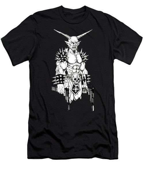Goatlord Hit List Black Men's T-Shirt (Athletic Fit)