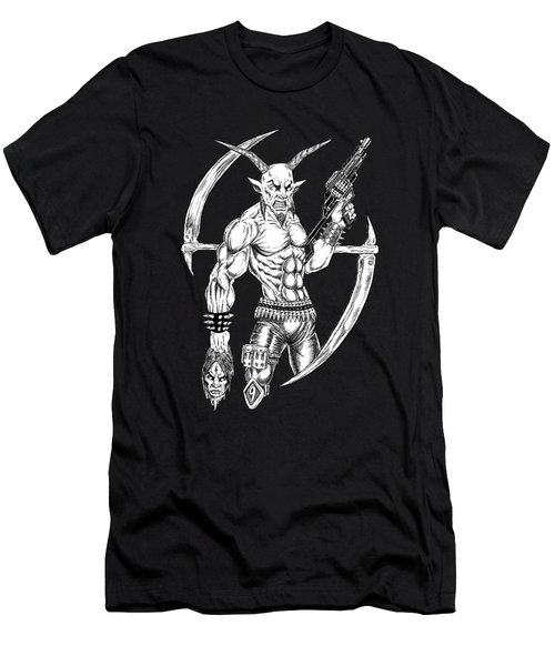 Goatlord Reaper Men's T-Shirt (Slim Fit) by Alaric Barca