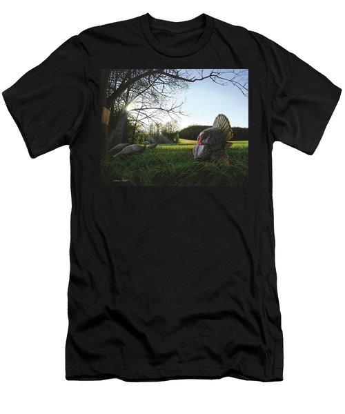 Gobbler's Morning Dance Men's T-Shirt (Athletic Fit)