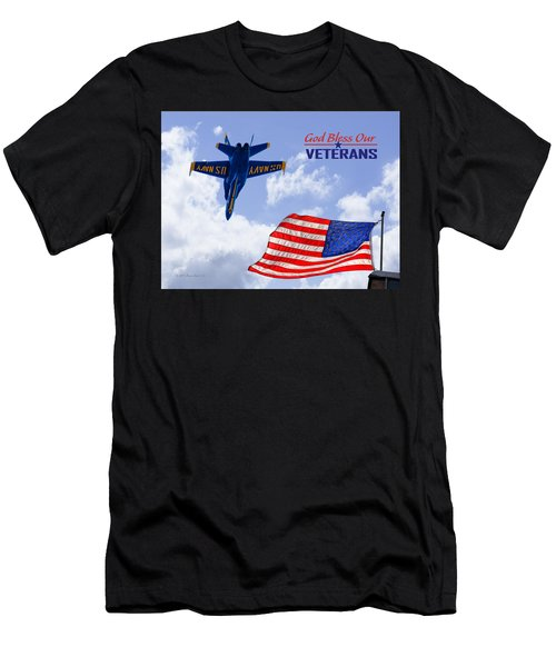 God Bless Our Veterans Men's T-Shirt (Athletic Fit)