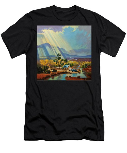 God Rays On A Blue Roof Men's T-Shirt (Athletic Fit)