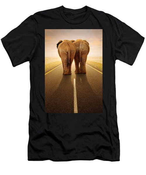 Going Away Together / Travelling By Road Men's T-Shirt (Athletic Fit)