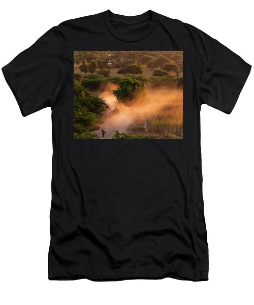 Going Home At Sunset Men's T-Shirt (Athletic Fit)