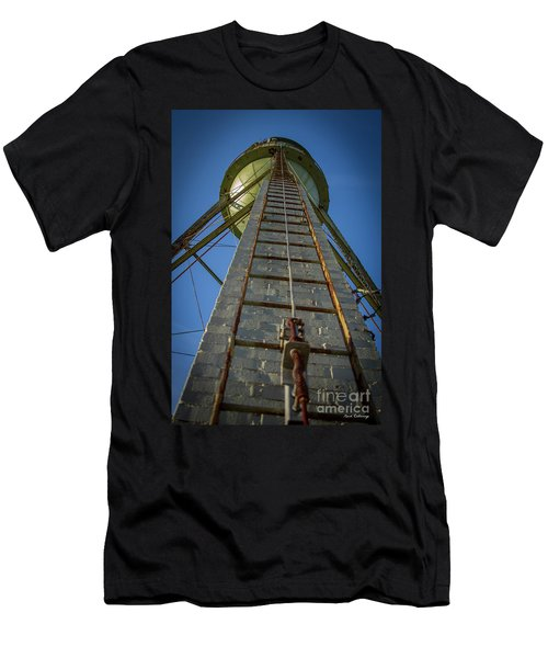 Men's T-Shirt (Slim Fit) featuring the photograph Going Up Mary Leila Cotton Mill Water Tower Art by Reid Callaway