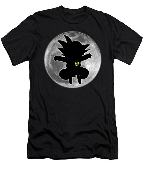 Goku N Moon Men's T-Shirt (Athletic Fit)