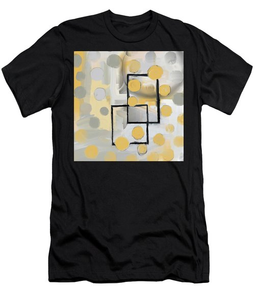 Gold And Grey Abstract Men's T-Shirt (Athletic Fit)