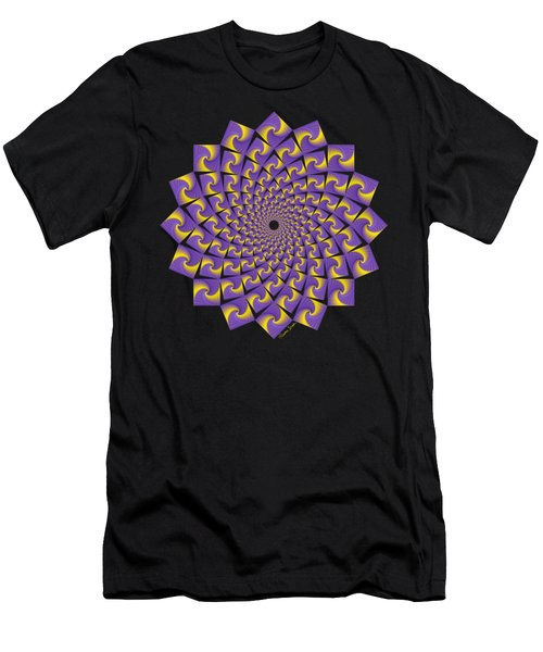 Gold And Purple Circle Of Diamonds Men's T-Shirt (Athletic Fit)