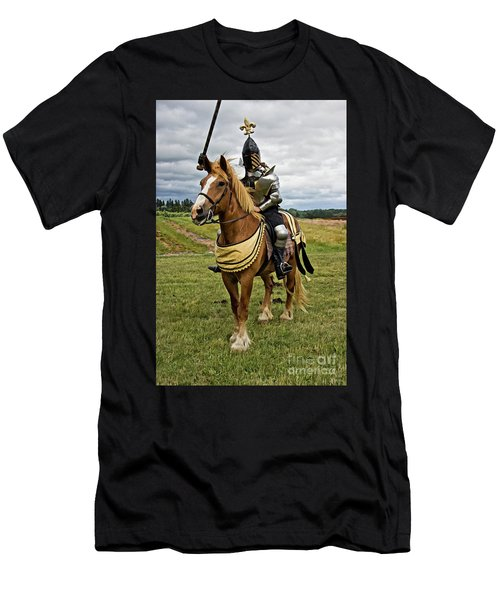 Gold And Silver Knight Men's T-Shirt (Athletic Fit)