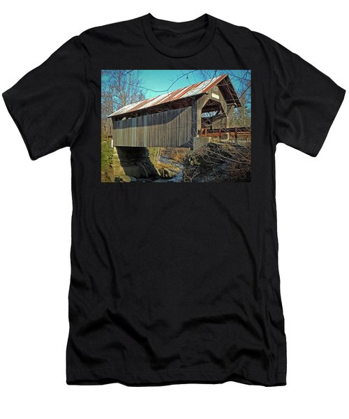 Gold Brook Bridge Men's T-Shirt (Athletic Fit)
