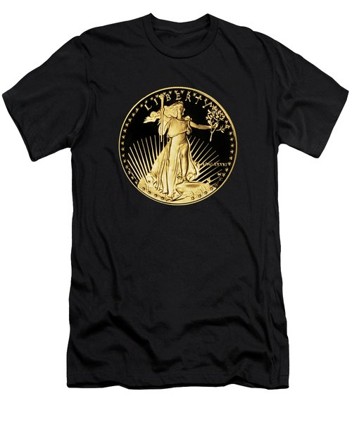 Gold Coin Front Men's T-Shirt (Athletic Fit)
