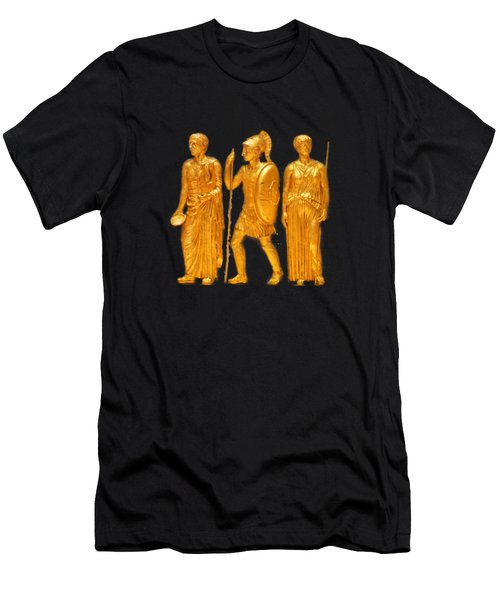 Gold Covered Greek Figures Men's T-Shirt (Athletic Fit)
