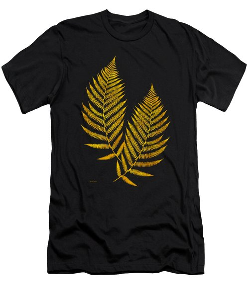 Gold Fern Leaf Art Men's T-Shirt (Athletic Fit)