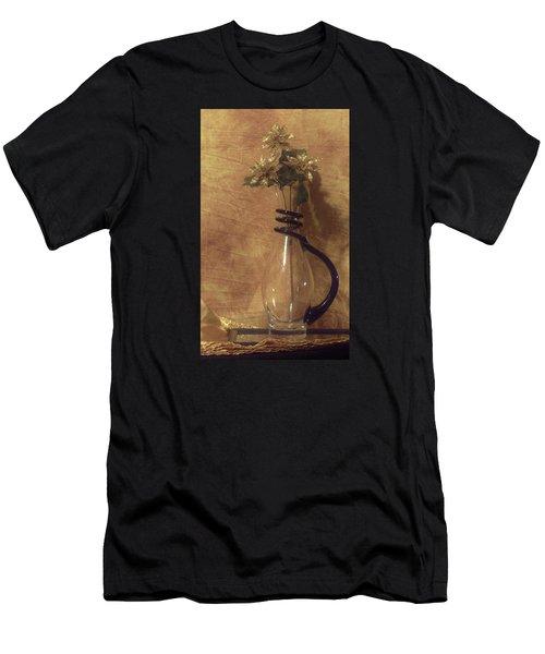 Gold Flower Vase Men's T-Shirt (Athletic Fit)