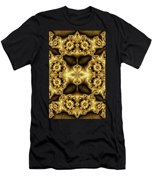 Gold N Brown Phone Case Men's T-Shirt (Slim Fit) by Lea Wiggins