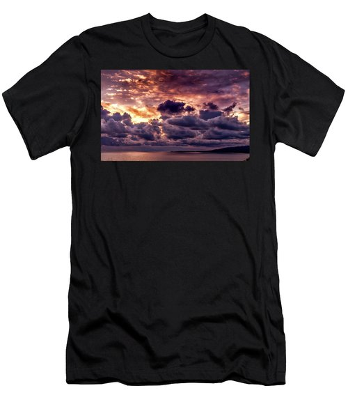 Gold, Orange And Lavender  Men's T-Shirt (Athletic Fit)