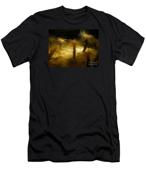 Gold Sea Anemones Men's T-Shirt (Slim Fit) by Bev Conover