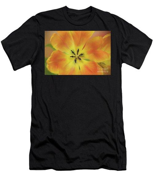 Gold Tulip Explosion Men's T-Shirt (Athletic Fit)
