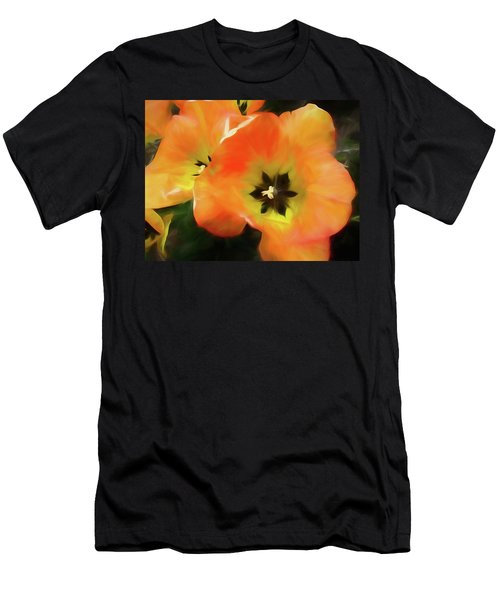 Men's T-Shirt (Athletic Fit) featuring the mixed media Gold Unfolding by Lynda Lehmann