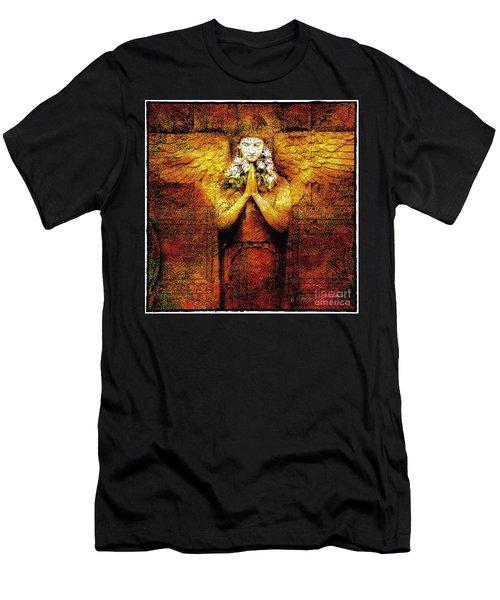 Golden Angel Men's T-Shirt (Slim Fit) by Craig J Satterlee