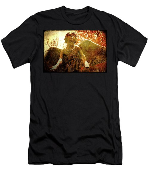 Men's T-Shirt (Slim Fit) featuring the photograph Golden Angel Of Hope by Jean Haynes