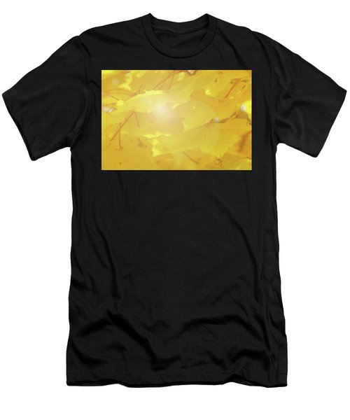 Golden Autumn Leaves Men's T-Shirt (Athletic Fit)