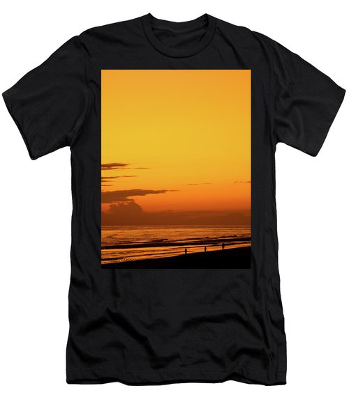 Golden Beach Sunset Men's T-Shirt (Athletic Fit)