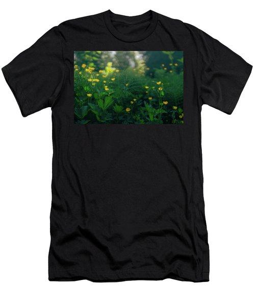 Golden Blooms Men's T-Shirt (Athletic Fit)