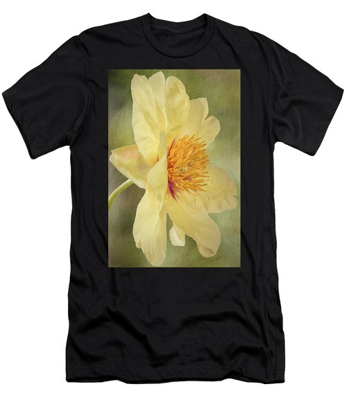 Golden Bowl Tree Peony Bloom - Profile Men's T-Shirt (Athletic Fit)