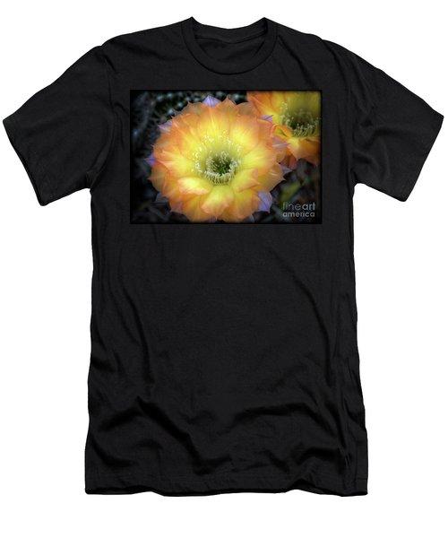 Golden Cactus Bloom Men's T-Shirt (Athletic Fit)
