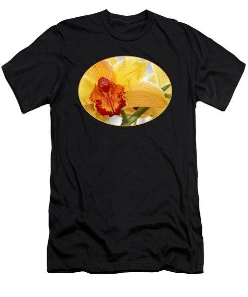Golden Cymbidium Orchid Men's T-Shirt (Athletic Fit)