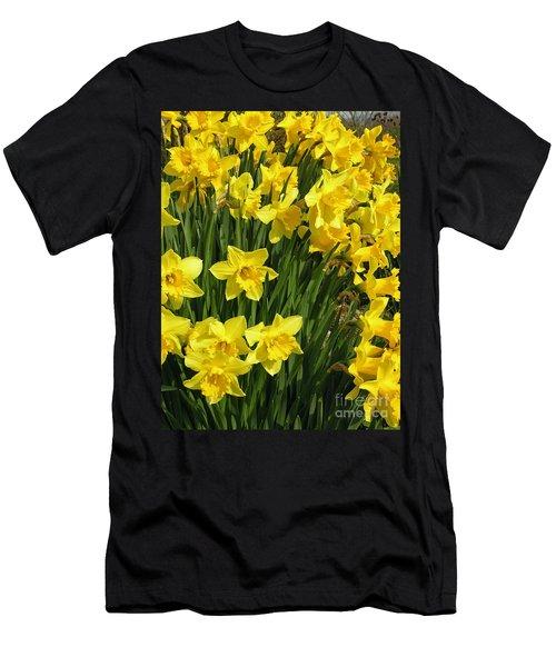 Golden Daffodils Men's T-Shirt (Athletic Fit)