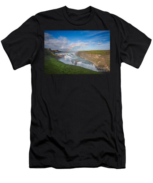 Golden Falls, Gullfoss Iceland Men's T-Shirt (Athletic Fit)