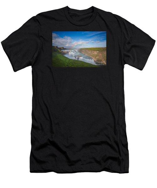 Golden Falls, Gullfoss Iceland Men's T-Shirt (Athletic Fit)