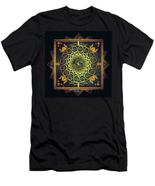 Golden Filigree Mandala Men's T-Shirt (Athletic Fit)